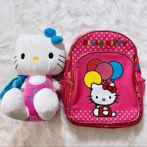 Hello kitty backpack & Plush bundle ❤️